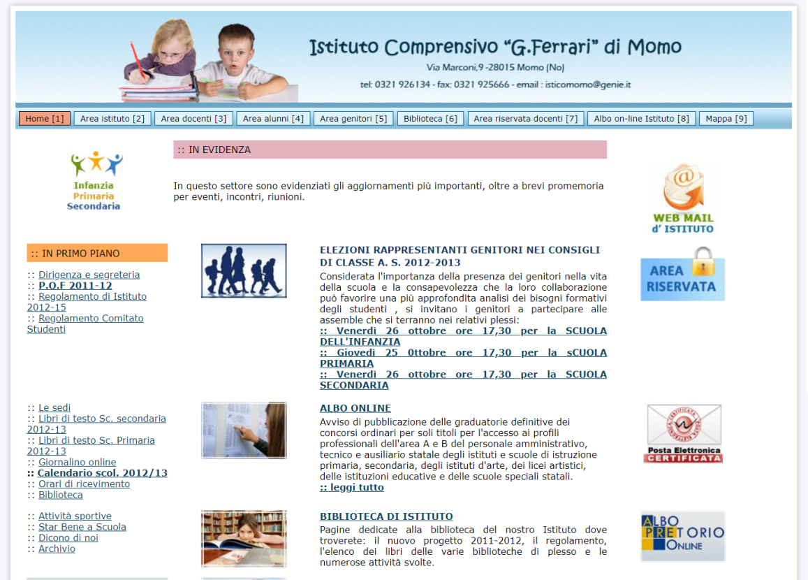 sito isticomomo.it - versione 2011