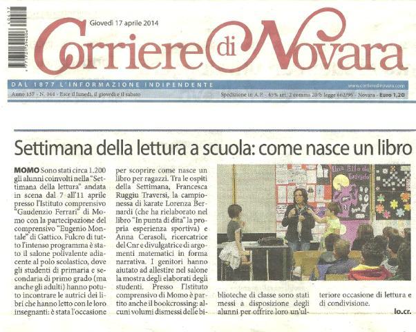 Articolo Corriere di Novara